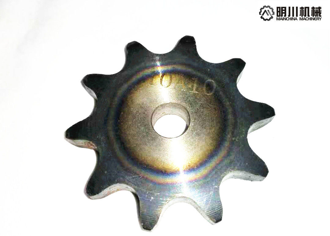 C45 Steel ANSI Standard Plate Wheel Sprockets 10A10T With Heat Treatment